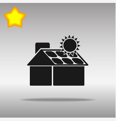 Solar panels on the house vector
