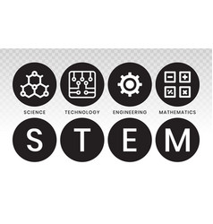 Stem education - science technology engineering vector