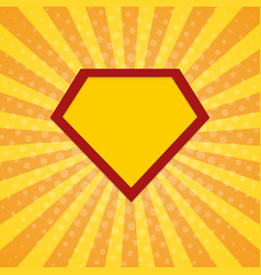 super hero rays halftone background vector image