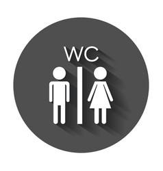 toilet restroom icon modern man and woman flat vector image