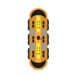Train top view vector