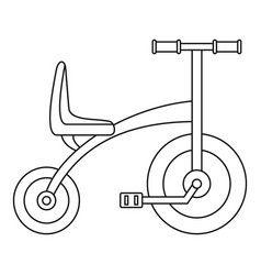 tricycle icon outline style vector image