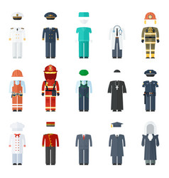 uniform man set vector image