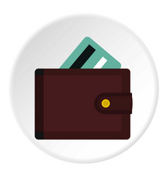 Wallet with credit cards icon circle vector