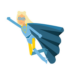 young blonde woman in classic blue superhero vector image