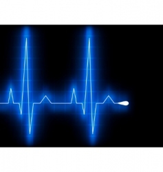 blue heart beat EKG graph vector image vector image