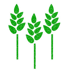 wheat ears icon grunge watermark vector image vector image
