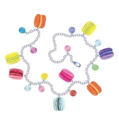 Bracelet macaroon on white background vector image vector image