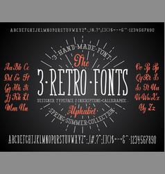 font chalk handmade - modular and hand-written vector image