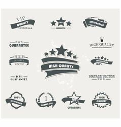 Labels black vector image vector image