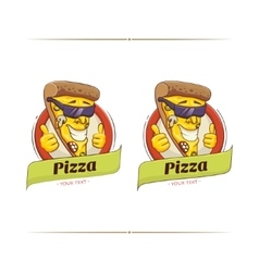 Pizza Funny Character vector image vector image