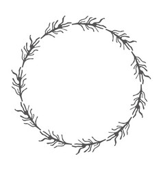 rustic branches plant design vector image