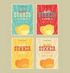 set of retro summer holiday posters travel and vector image vector image