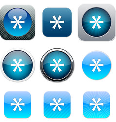 Asterisk blue app icons vector image vector image