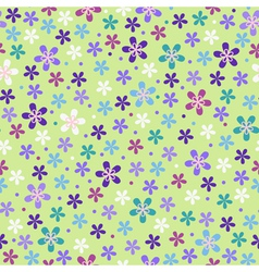 Flower seamless color pattern vector image vector image