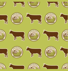 organic vegan healthy food eco restaurant cow vector image vector image