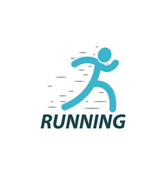 running logo design template vector image vector image