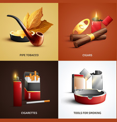 tobacco products design concept vector image vector image