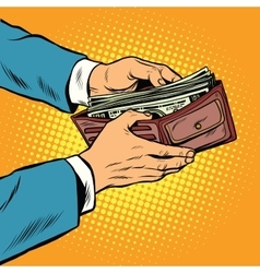 Wallet with cash money business and Finance vector image vector image