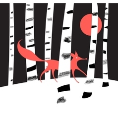 Background with birch trees vector image vector image