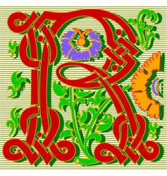 decorative letter R vector image vector image