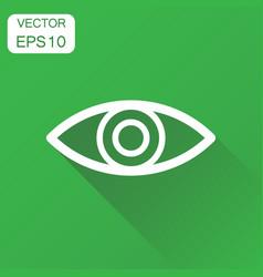 eye icon business concept eyesight pictogram on vector image