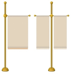 Flags on gold pole vector image