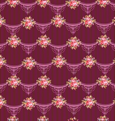 Floral pattern with garden pink roses vector image vector image