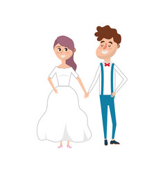 happy couple together and romantic celebration vector image
