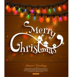Merry Christmas typographical background and vector image