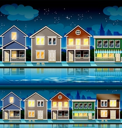 suburb at night vector image