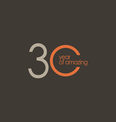 30 year amazing template design vector