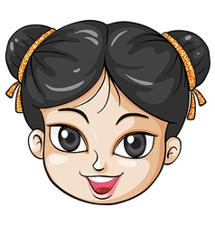 A face of a young Chinese woman vector image