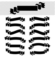 a set of flat black isolated silhouettes of vector image