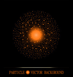 Abstract shpere of glowing light particles space vector