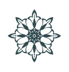 arabic floral ornament vector image