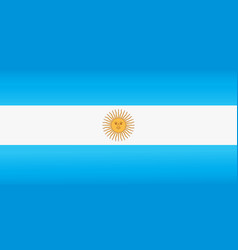 Argentina flag with official colors vector