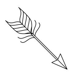 Arrow style boho icon vector