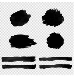 black blot isolated transparent background vector image