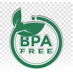 Bpa-free bisphenol a stickers and phthalate free vector