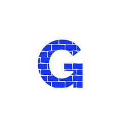 Brick logo letter g vector