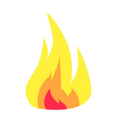 burning flame icon isolated on white background vector image