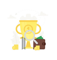 business big gold trophy business vector image