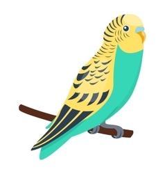 Cartoon parrot bird vector