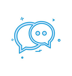 chat sms text web icon design vector image