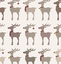 Christmas reindeers seamless pattern vector