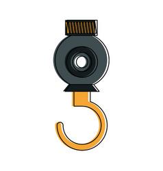 Crane hook construction icon image vector