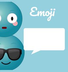 cute emojis cartoons vector image