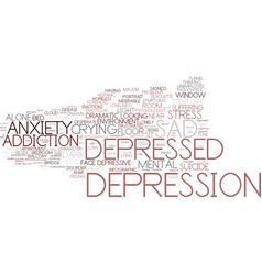 Depression word cloud concept vector