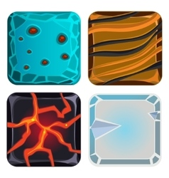 Different Materials and Textures for Game Icon vector image